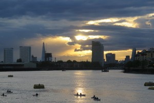 Sunset over the River Thames