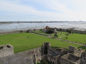 Portchester Castle - view from the top (1)