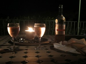 Romantic evening on our terrace