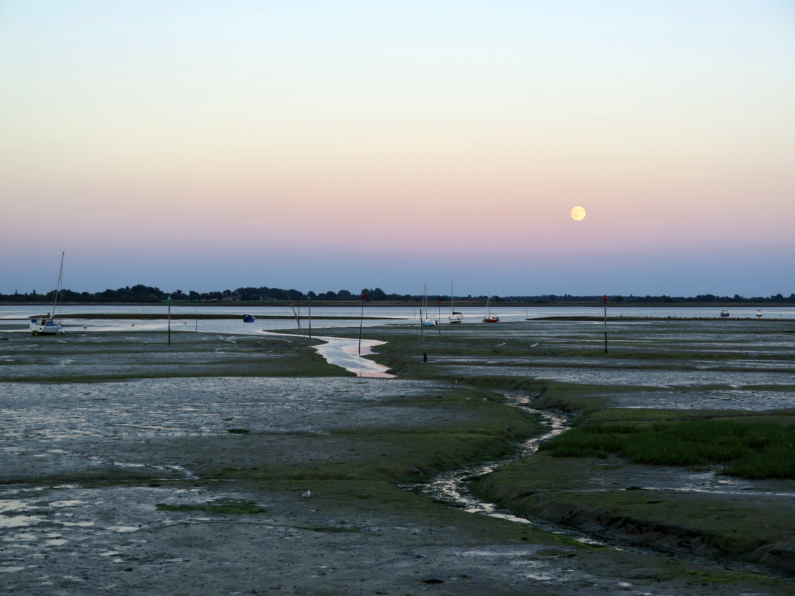 Moon Rise at Prinsted Beach 46/16